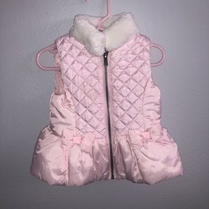 pink puffer vest for baby girl